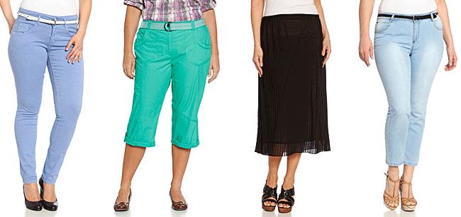 Hosen in großen Größen für Frauen.